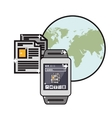 wearable technology smartwatch icon image vector image