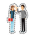 young adults having a conversation icon image vector image vector image