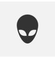 Alien head icon vector image