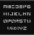 simple stencil font english alphabet vector image