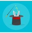 Rabbit in a Magic Hat vector image