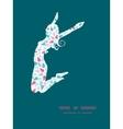 abstract colorful drops jumping girl vector image