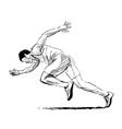 Hand sketch running man vector image