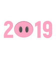 2019 happy new year pig face vector image