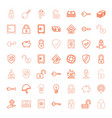 49 safe icons vector image vector image