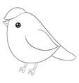 a children coloring bookpage cartoon bird image vector image