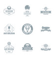 air stuff logo set simple style vector image vector image