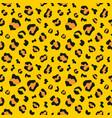 animal leopard skin seamless pattern vector image vector image