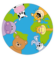 animals world vector image vector image