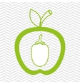 apple fruit with beet isolated icon design vector image