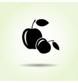 Apple icon Two fruits black silhouette with vector image
