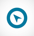 arrow pointer bold blue border circle icon vector image vector image