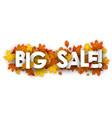 big sale banner with orange leaves vector image vector image