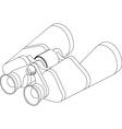 Binoculars line vector image vector image