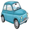 Blue vintage car vector image