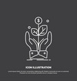 business company growth plant rise icon line vector image