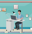 business man invalid in office vector image vector image