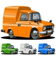 cartoon delivery van one click repaint vector image vector image