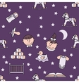 Child and baby cute seamless pattern vector image