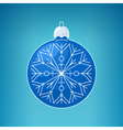 Christmas Blue Ball with SnowflakeMerry Christmas vector image vector image