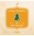 Christmas greeting card1 vector image