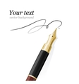 Close up of a fountain pen and signature vector image vector image