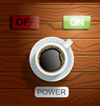 coffee power concept realistic vector image vector image