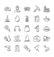 collection of industrial doodle icons vector image vector image