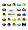 color icons set in flat isometric vector image vector image
