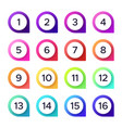 colorful numbers set number pointer vector image