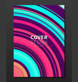 cover design template with gradient color vector image vector image