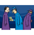 crime or corruption cartoon vector image vector image