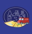 delivery truck logistic service vector image
