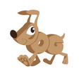 dog cartoon animal in letters vector image vector image