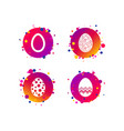 easter eggs signs circles and floral patterns vector image
