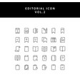 editorial outline icon set vol2 vector image vector image