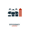 efficiency icon premium style design from vector image vector image