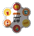 elements fast food icon vector image vector image