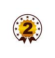 emblem best quality number 2 vector image vector image
