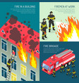 fire department design concept set vector image vector image