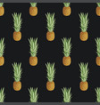 fruit seamless pattern with whole ripe pineapples vector image