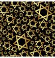 gold star of David dark religion seamless pattern vector image