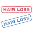 hair loss textile stamps vector image vector image