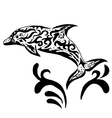 High quality original Dolphin tatoo vector image