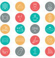 Icons of hotel service Thin line icon Hotel glyph vector image vector image