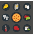 Icons set of process cooking pizza vector image vector image
