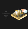 isometric business chess template vector image vector image