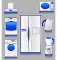 kitchen appliances vector image