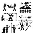 lost civilization cannibal man eating tribe stick vector image vector image