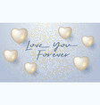 love you forever design for greeting card with vector image